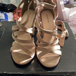 Torrid dark taupe high heels 9W